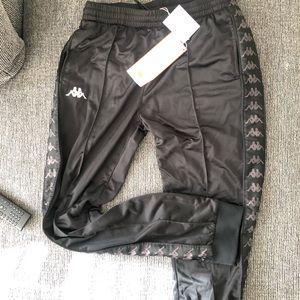 Kappa Black/Black/White Track Pants